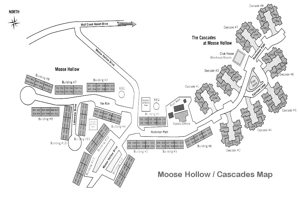 Moose Hollow Map